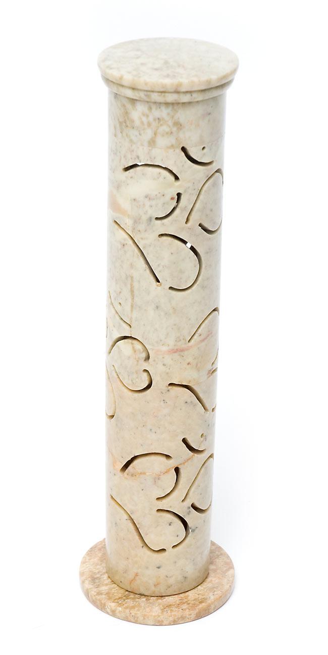 ソープストーン 筒型香立て - 蔦の写真