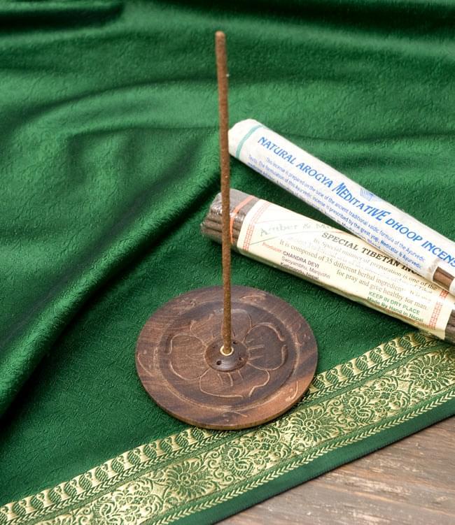 インド香&ネパール香立て【9.5cm】の写真5 - ネパール香を挿してみたところです。