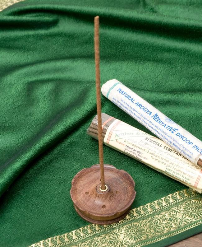 インド香&ネパール香立て【7cm】の写真5 - ネパール香を挿してみたところです。
