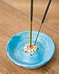 ジャイプール陶器のお香立て 丸