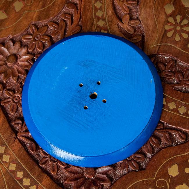 インド香&ネパール香立て -ブッダアイ 【直径約9cm】 4 - 裏面になります。