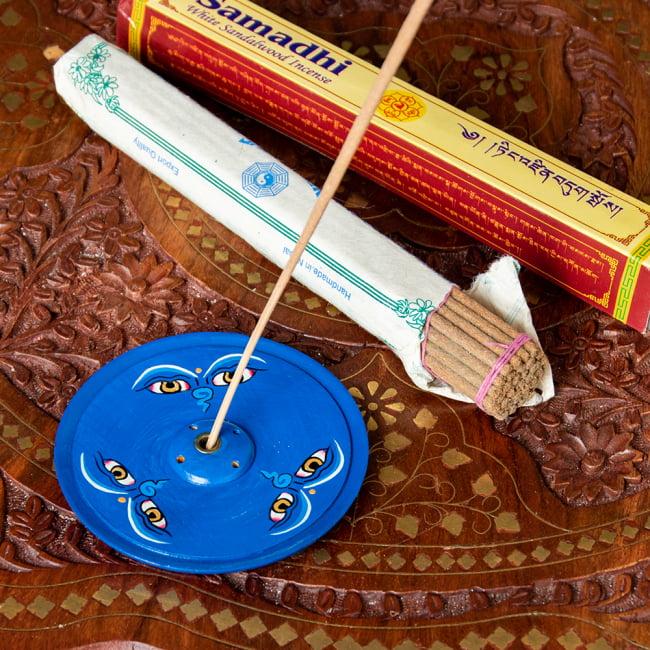 インド香&ネパール香立て -ブッダアイ 【直径約9cm】の写真