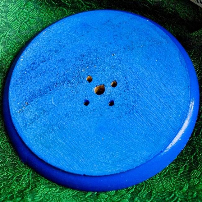 インド香&ネパール香立て 【直径約9cm】 4 - 裏面になります。(同じサイズの類似商品を写しています)