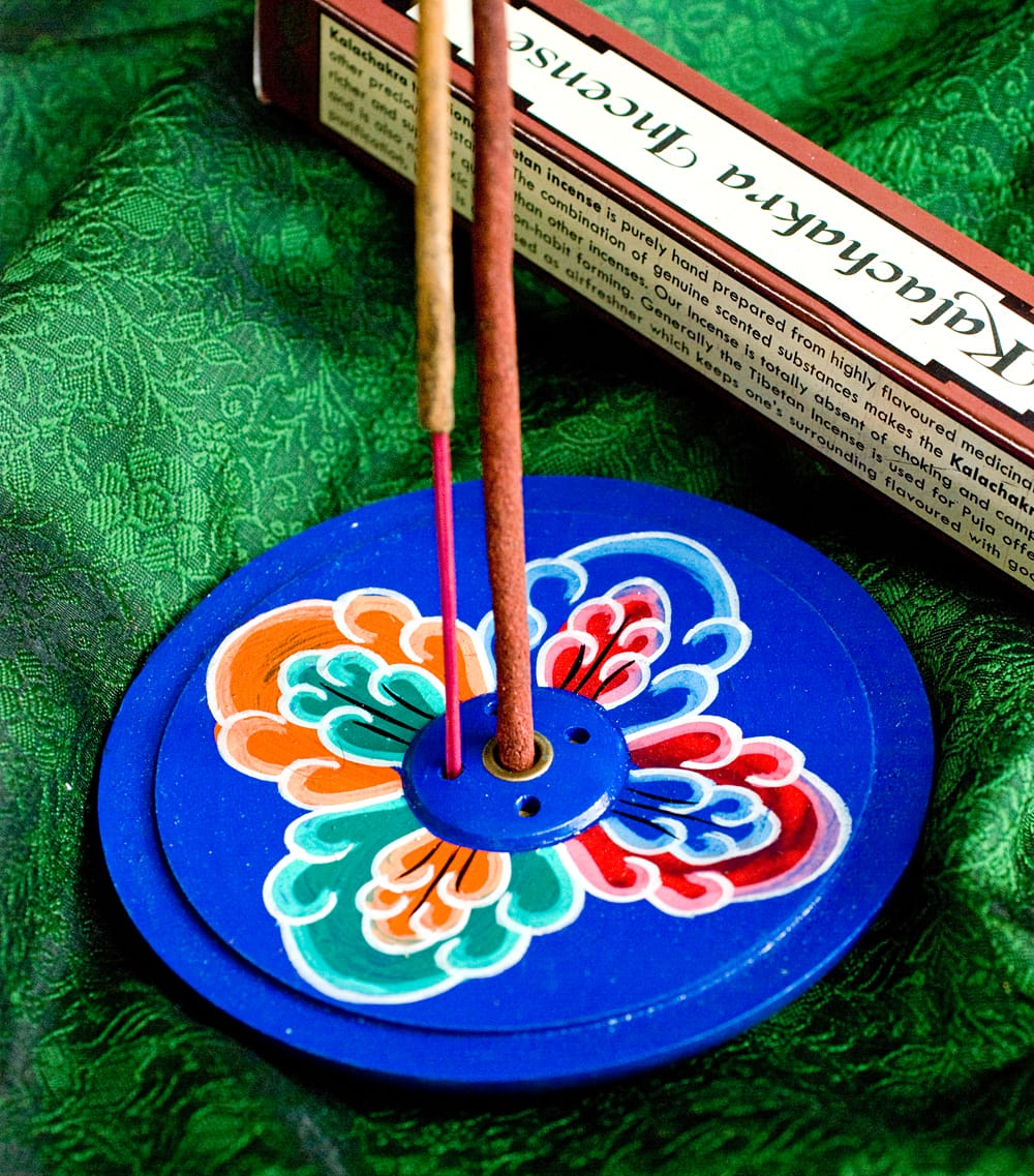 インド香&ネパール香立て 【直径約9cm】の写真