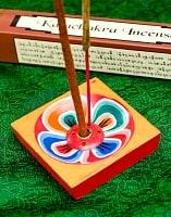 蓮の花のインド香&ネパール香立て【1辺約6cm】