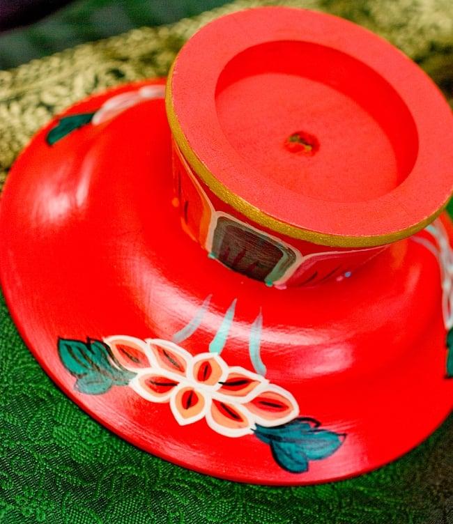 杯型のインド香&ネパール香立て(大)【直径約9cm】 6 - 裏面です。