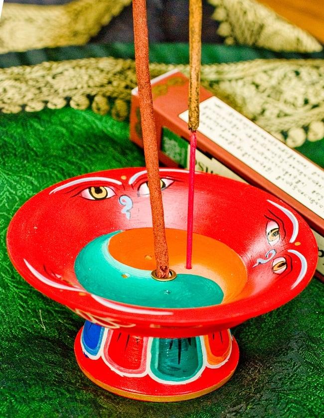 杯型のインド香&ネパール香立て(大)【直径約9cm】の写真