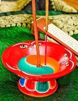 杯型のインド香&ネパール香立て(大)【直径約9cm】