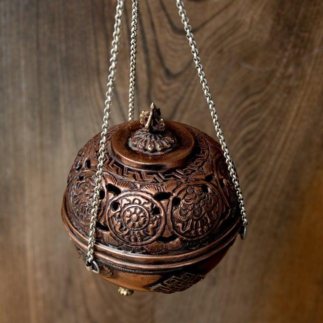 伝統チベタン香炉 吊り下げられるハンギング式 3 - とても雰囲気ある香炉です
