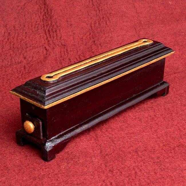 木彫りのチベタン香立て【オンマニペメフム】 6 - 後ろはシンプルですが高級感があり、美しいです!