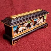 木彫りのチベタン香立て【獅子】