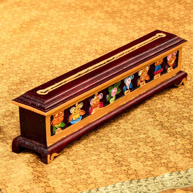 木彫りのチベタン香立て【吉祥文様・小】の写真
