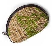 植物を編み込んだバリ島のポーチ - M -