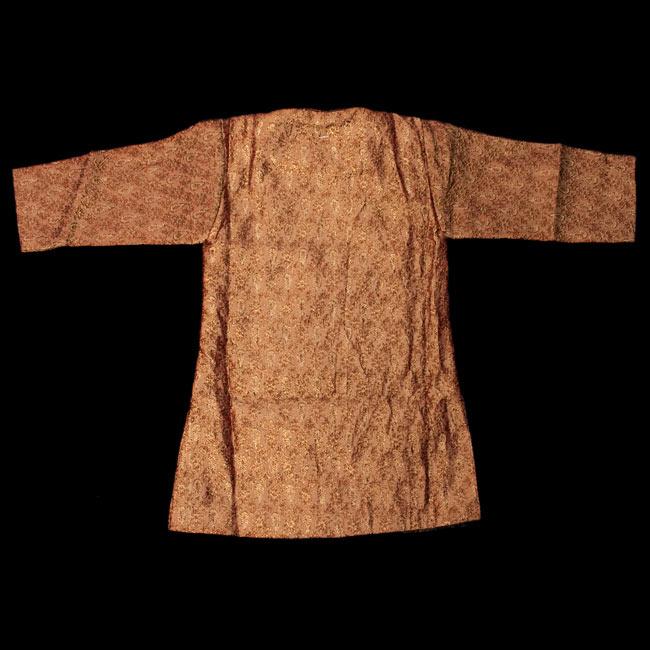 子供用クルタパジャマ 3点セット【唐草・ブラウン】  3 - 裏はこのようになっております