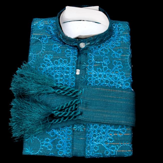子供用クルタパジャマ 3点セット【刺繍】  9 - 【選択 - B】の青系はこちらになります。