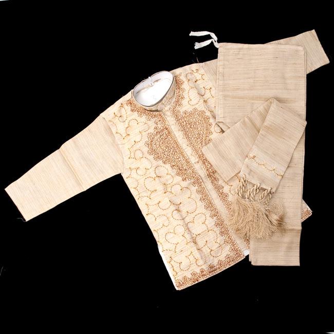子供用クルタパジャマ 3点セット【刺繍】 の写真