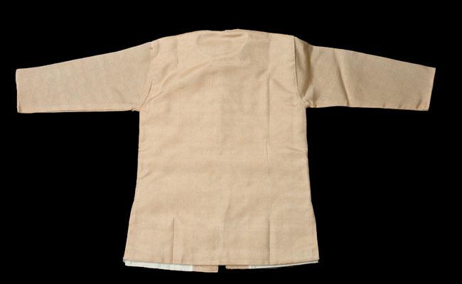 子供用クルタパジャマ 3点セット【マロンベージュ】 3 - 裏はこのようになっております
