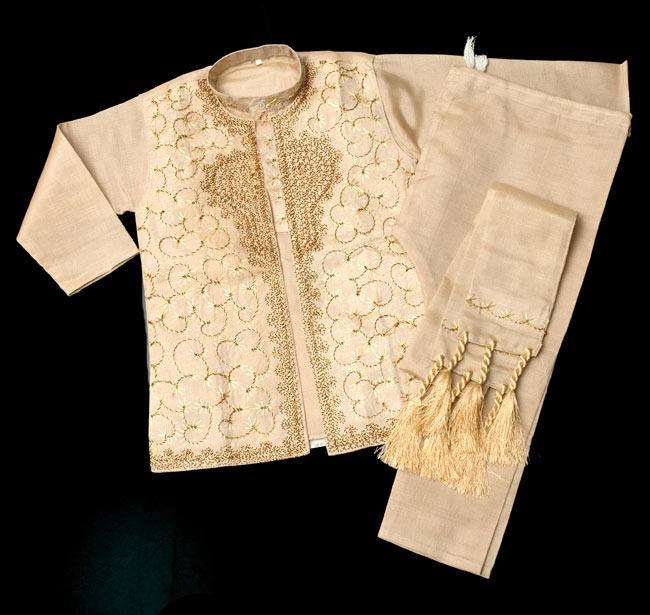 子供用クルタパジャマ 3点セット【マロンベージュ】の写真