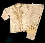 子供用クルタパジャマ 3点セット【マロンベージュ】の商品写真