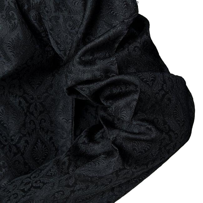 クルタ・パジャマ - グランドブラック 6 - 生地感の様子になります。