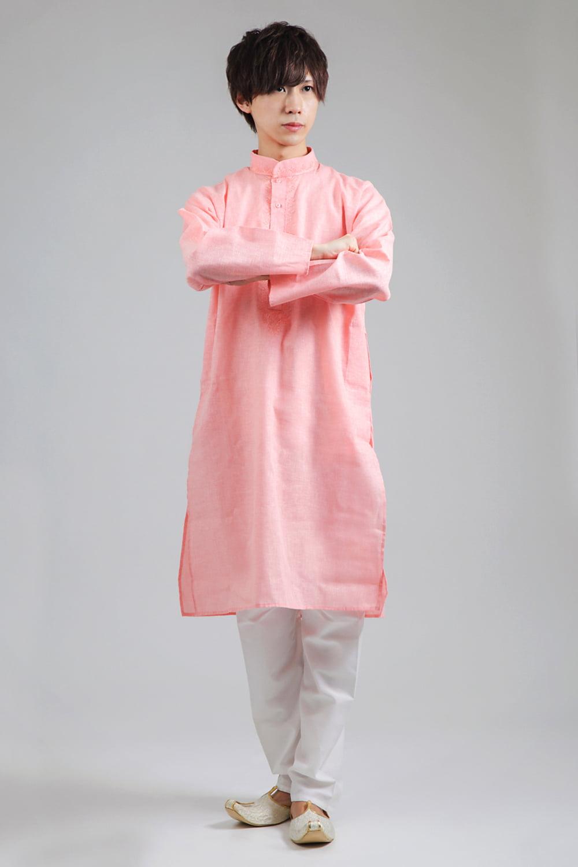 〔各色あり〕パステル・ライトカラー系 クルタ・パジャマ上下セット インドの男性民族衣装の写真