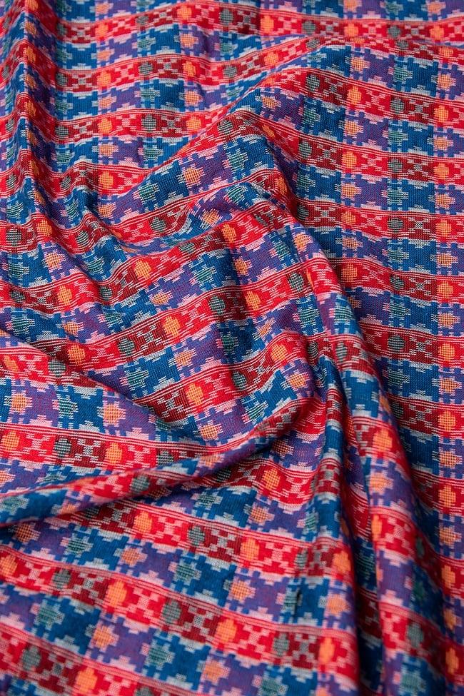 ネパール伝統のダッカ織り布 1メートル切り売り 2 - 近くから見てみました。