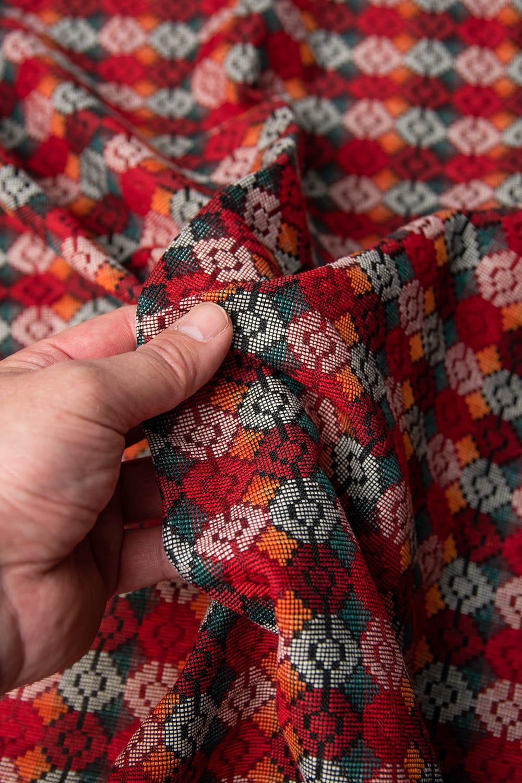 ネパール伝統のダッカ織り布 1メートル切り売り 5 - 肌触りもとっても良いんですよ!