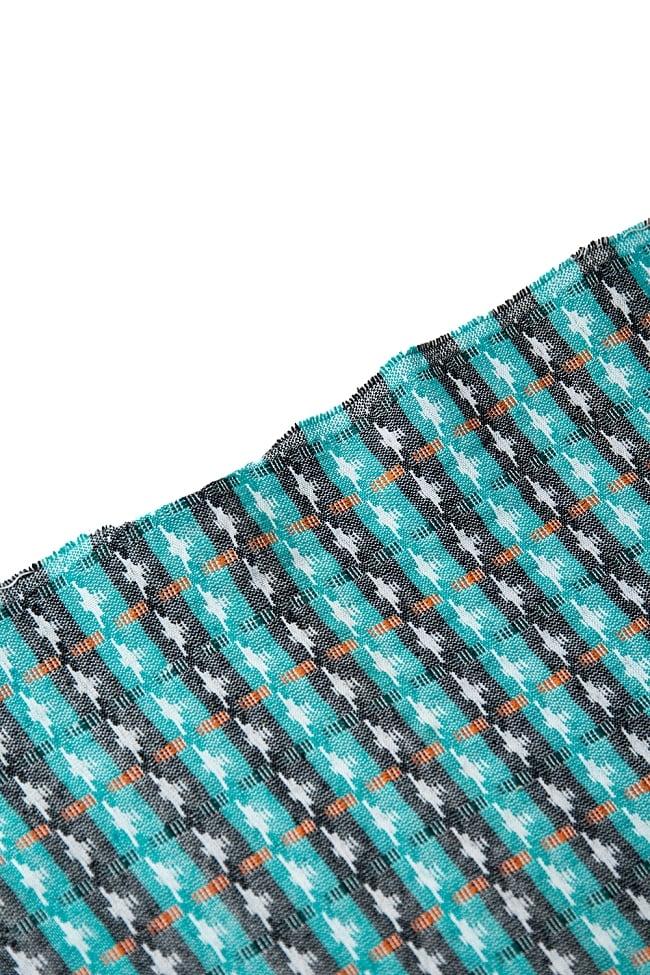 [約2メートル]ネパール伝統のダッカ織り布 4 - 端の処理を見てみました。