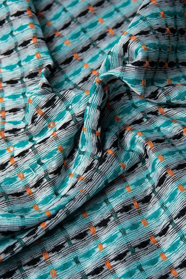 [約2メートル]ネパール伝統のダッカ織り布 6 - 裏地はこのようになっています。