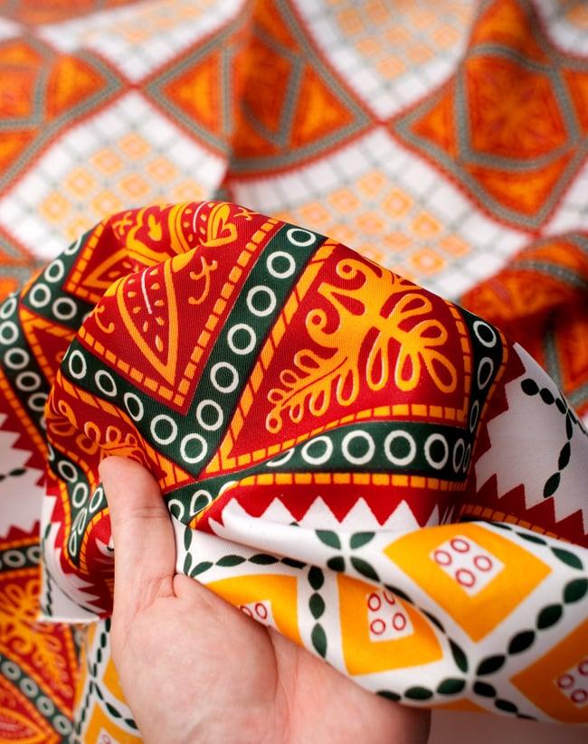 【横幅:145cm】パーティー向けデコレーション布(1m切り売り) 6 - サラサラとした触り心地で、しっかりした感じの手触りです。
