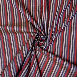 〔1m切り売り〕南インドのストライプ布〔幅約106.5cm〕