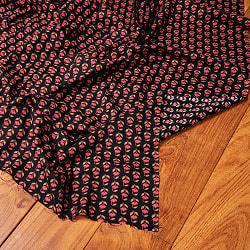 〔1m切り売り〕南インドの小花柄布〔約106cm〕 - ブラック