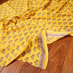 〔1m切り売り〕南インドの小花柄布〔約106cm〕 - イエローの商品写真