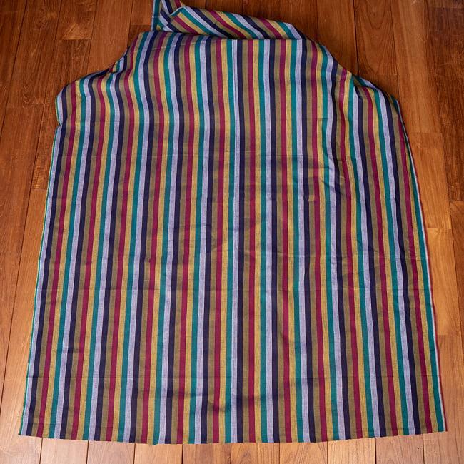 〔1m切り売り〕南インドのストライプ布〔約106cm〕 - セーシェル 2 - とても素敵な雰囲気です