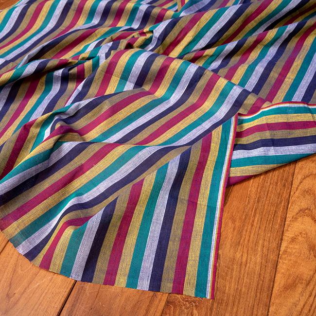 〔1m切り売り〕南インドのストライプ布〔約106cm〕 - セーシェルの写真