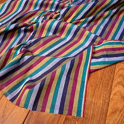 〔1m切り売り〕南インドのストライプ布〔約106cm〕 - セーシェルの商品写真