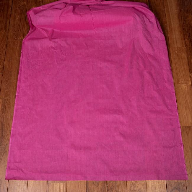 〔1m切り売り〕南インドのシンプル無地コットン布〔約106cm〕 - ピンク 2 - とても素敵な雰囲気です