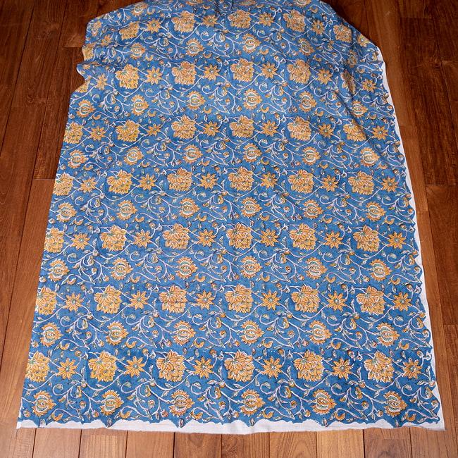 〔1m切り売り〕ジャイプル職人手作り インド伝統の木版染め更紗マルチクロス 色彩豊かなボタニカルデザイン〔幅約106cm〕 2 - とても素敵な雰囲気です