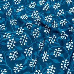 〔1m切り売り〕伝統息づく南インドから 昔ながらの木版インディゴ藍染布〔112cm〕 - 伝統ウッドブロックの商品写真