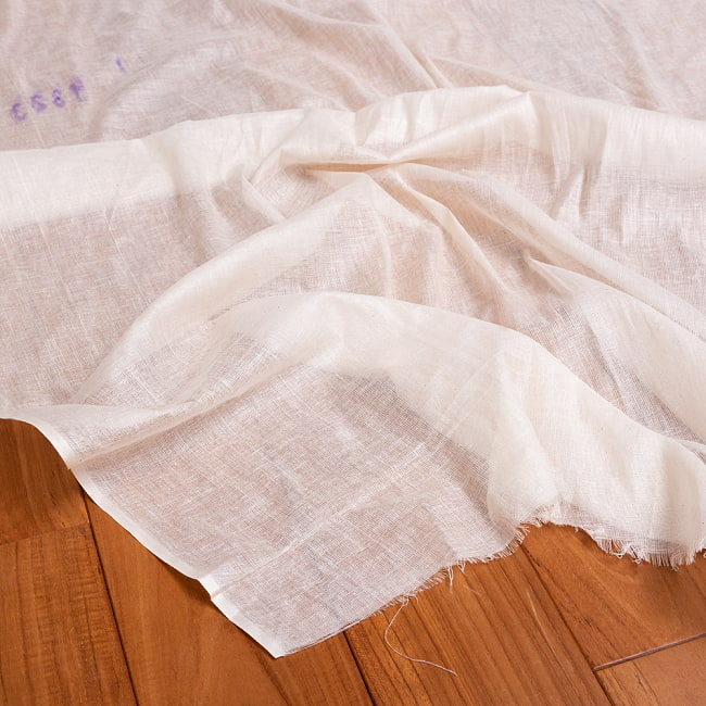 〔1m切り売り〕インド綿のナチュラルファブリック〔幅約96cm〕 2 - インドならではのテイスト