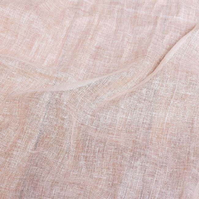 〔1m切り売り〕インド綿のナチュラルファブリック〔幅約96cm〕 5 - 生地の拡大写真です