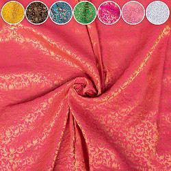 〔1m切り売り〕〔各色あり〕インドの伝統模様布 光沢感のある更紗模様〔幅約108.5cm〕
