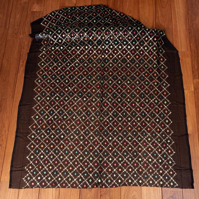 〔1m切り売り〕〔各色あり〕スパンコール格子模様のメッシュ シースルー生地布〔幅約110.5cm〕 2 - 全体を広げてみたところです。1mの長さごとにご購入いただけます。