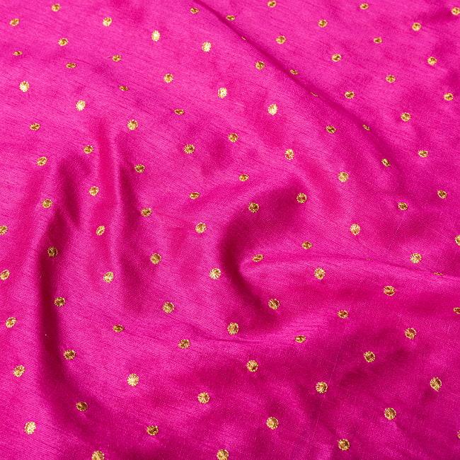 〔1m切り売り〕インドの伝統模様布 光沢感のあるシンプル模様〔幅約110cm〕 4 - 生地の拡大写真です