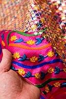 〔1m切り売り〕インドのスパンコールクロス - 赤紫〔幅100cm〕