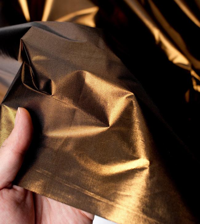〔1m切り売り〕インドの伝統模様布 - 無地 ブラウン〔幅100cm〕 5 - 拡大写真です