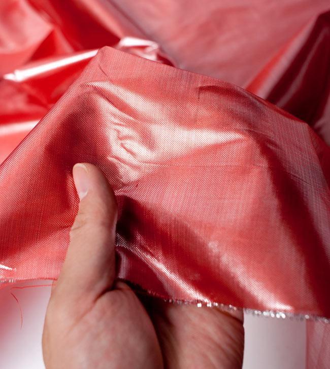 〔1m切り売り〕インドの伝統模様布 - 無地 ピンク〔幅100cm〕 5 - 拡大写真です
