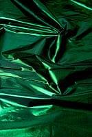 〔1m切り売り〕インドの伝統模様布 - 無地 緑〔幅100cm〕