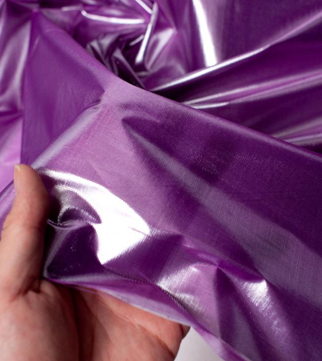 〔1m切り売り〕インドの伝統模様布 - 無地 紫〔幅100cm〕 5 - 拡大写真です