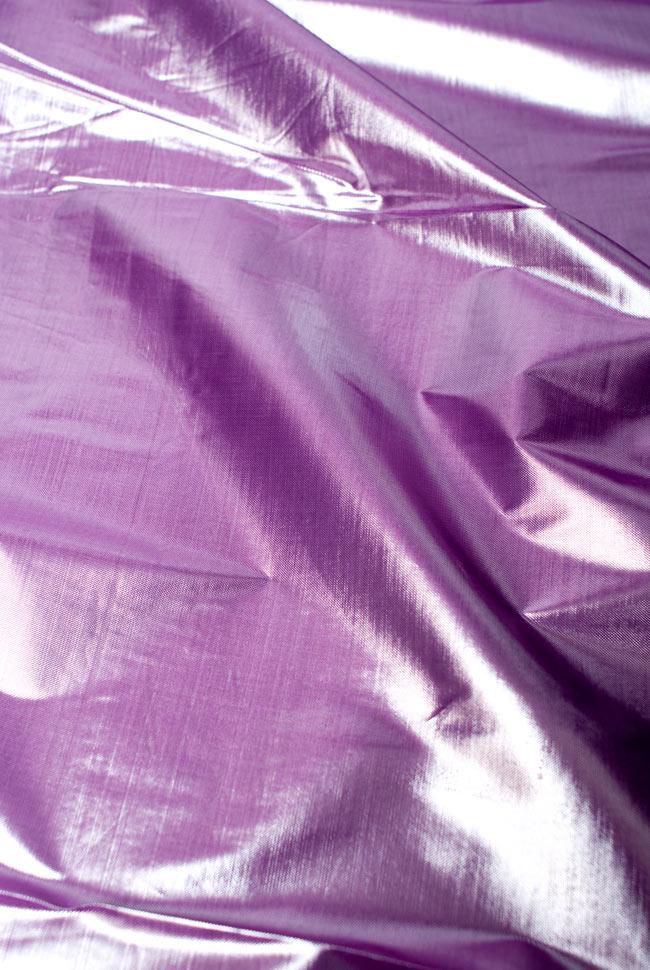 〔1m切り売り〕インドの伝統模様布 - 無地 紫〔幅100cm〕の写真